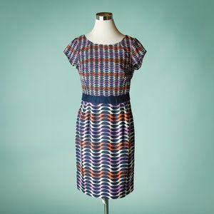 Boden 6 Navy Blue Kensington Silk Blend Dress